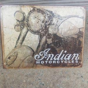 Indian Motorcycles tin sign
